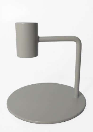 Branded By Candle holder 10 cm off white