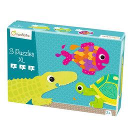 Avenue Mandarine Avenue Mandarine 3 puzzles XL jungle animals