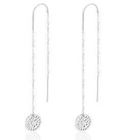 With love Earrings thread mandala silver