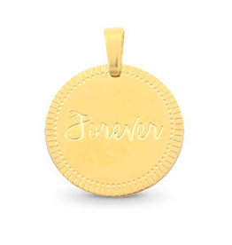 With love With Love necklace ball chain gold 45 cm + hanger 'FOREVER'