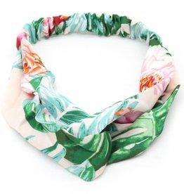 With love Headband jungle flowers green - pink
