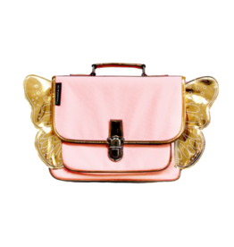Caramel & cie Mini schoolbag pink wings 32 x 26 x 8 cm