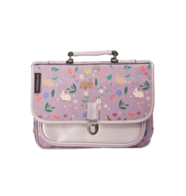 Caramel & cie Mini schoolbag purple rabbits 32 x 26 x 8 cm