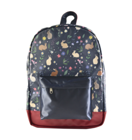 Caramel & cie Medium backpack blue rabbits 30 x 40 x 13 cm