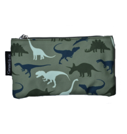 Caramel & cie Large pencil case dinos 13 x 21 cm