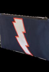 Caramel & cie Large pencil case blue lightning 13 x 21 cm