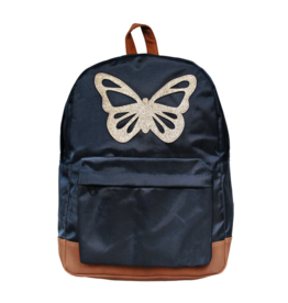 Caramel & cie Large backpack blue butterfly 30 x 40 x 13 cm
