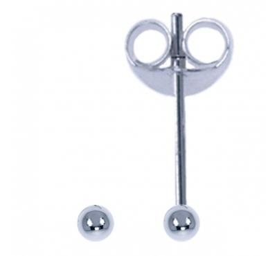 Treasure Silver stud earrings little ball 1.5 mm