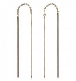 Treasure Silver tread earrings - gold plated