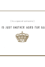 Enfant Terrible Enfant Terrible card  + enveloppe 'mom is just another word'