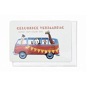 Enfant Terrible Enfant Terrible card + enveloppe 'gelukkige verjaardag - busje'