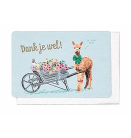 Enfant Terrible Enfant Terrible card + enveloppe 'dank je wel - alpaca'