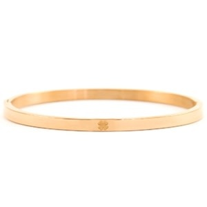 With love With love bangle rosé gold 'luck'