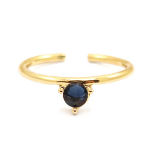 With love With Love ring one size - gold - dark blue