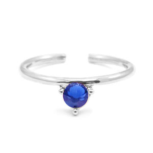 With love With Love ring one size - silver - blue