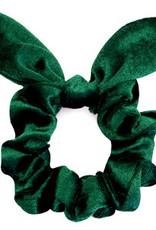 With love Scrunchie velvet bow - verdant green
