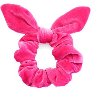 With love Scrunchie velvet bow - carmine rose