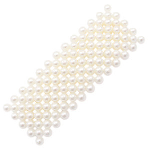 With love Hair clip pearls off white - gold