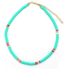 With love Choker surf necklace 37-43 cm turquoise
