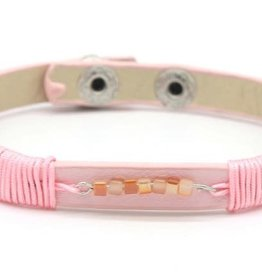 With love With Love leather bracelet pink
