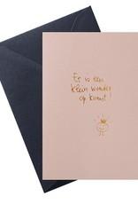 Papette Papette hot copper greeting card  'klein wonder op komst'