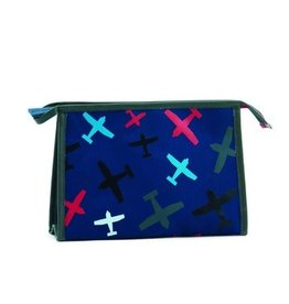 Zebra Toilet bag Planes blue 26x16x8 cm