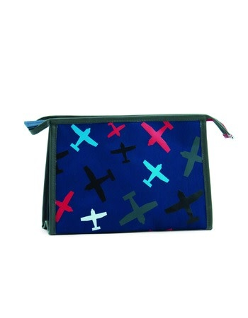 Zebra Toilet bag Planes blue 26x16x8 cm