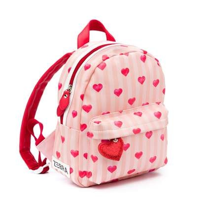 Zebra Zebra backpack Girls Stripes & hearts 30x25x11 cm