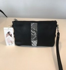 Détail Bag Pure black / white snake