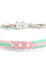 With love Brazilian bracelet pastel green - pink