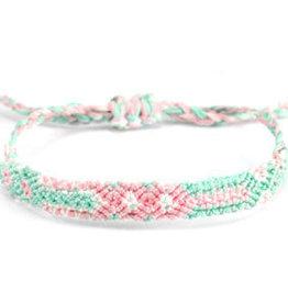 With love Brazilian bracelet pastel green - pink