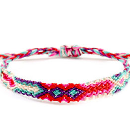 With love Brazilian bracelet multicolor pink - blue