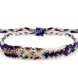 With love Brazilian bracelet multicolor white - blue