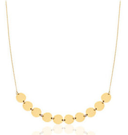 With love With love necklace coins gold 49 + 7 cm