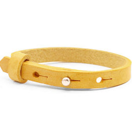 With love With love leather bracelet kids mineral yellow