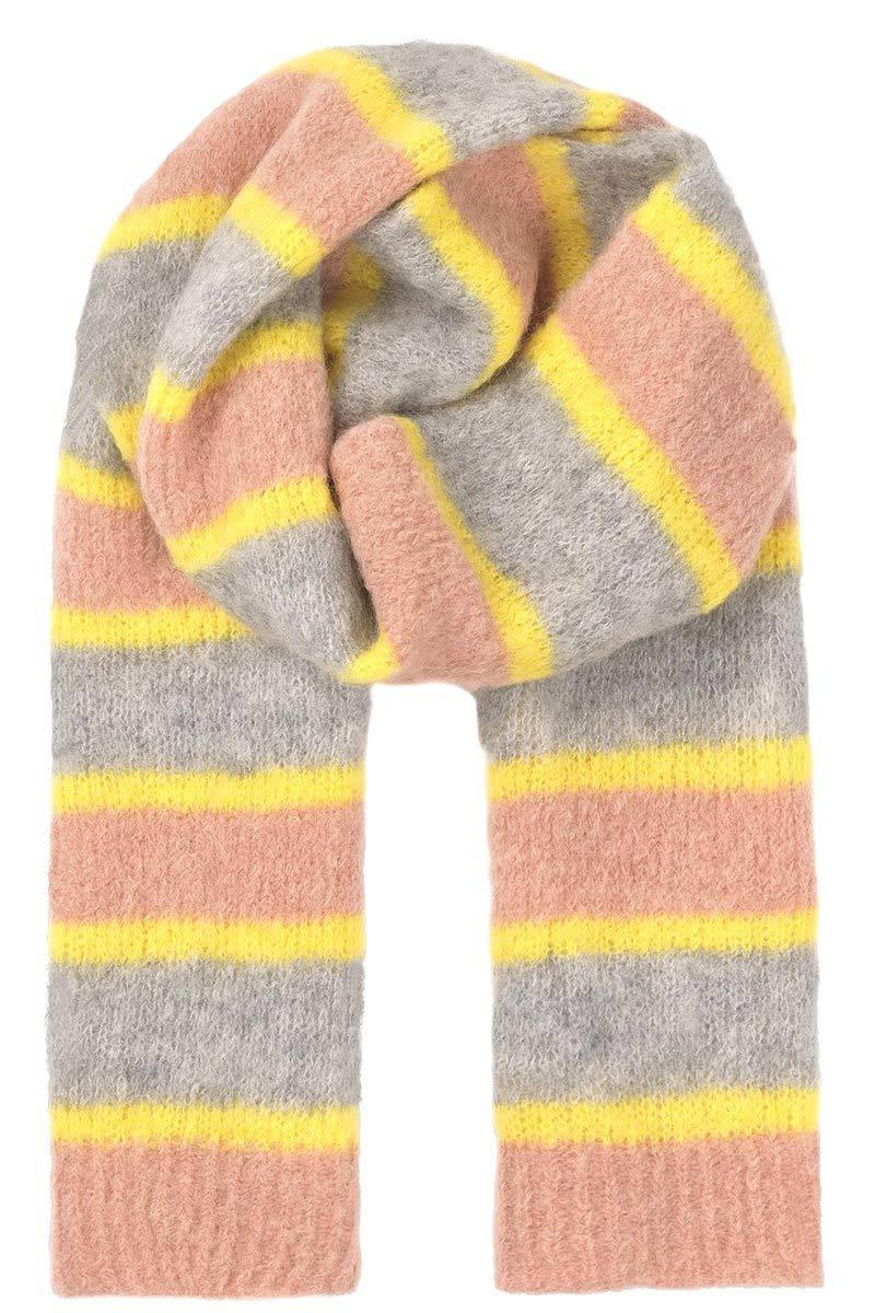 Becksondergaard Alpaca scarf Gloria stripes - limelight