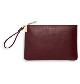Katie Loxton Katie Loxton secret message pouch -  Love love love - burgundy 16x24 cm