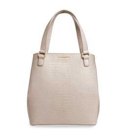 Katie Loxton Katie Loxton Céline croc day bag - Oyster 32x30x15 cm