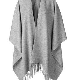 Becksondergaard Beck Sondergaard Solid cape  100% wool - light grey melange