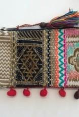 With love Ibiza pouch with pom poms 19 x 13 cm
