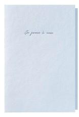 Papette Papette Heaven greeting card 'Je pense à vous'