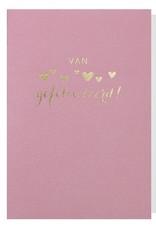 Papette Papette greeting card with enveloppe 'van harte gefeliciteerd'