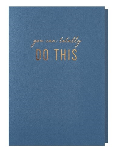 Papette Papette greeting card with enveloppe 'you can totally do this'