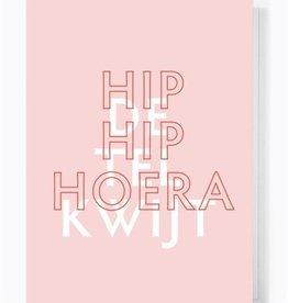 Papette Papette greeting card 'hip hip hoera, de tel kwijt'