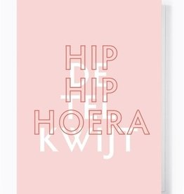 Papette Papette greeting card love 'hip hip hoera, de tel kwijt'