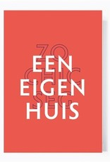 Papette Papette greeting card + enveloppe 'een eigen huis, zo chic seg'