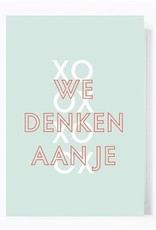 Papette Papette greeting card + enveloppe 'We denken aan je'