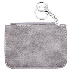 With love Trendy wallet snake Grey 12 x 9 cm