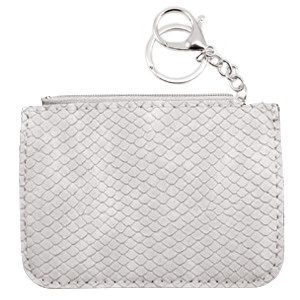 With love Trendy wallet snake Light Grey 12 x 9 cm