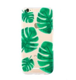 With love Iphone 7 plus cover - palm leaf transparant